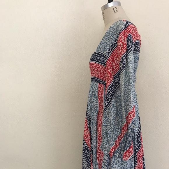 Vtg 70s Orange Floral Sundress Sz M  Vintage 1970s Tie Back Empire Waist Summer Dress With Ruffled Cap Sleeves /& Smocked Bodice